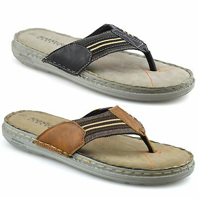 Mens Slip On Toe Post Sandals Summer Beach Walking Flip Flop Mules Shoes Size • 11.98£