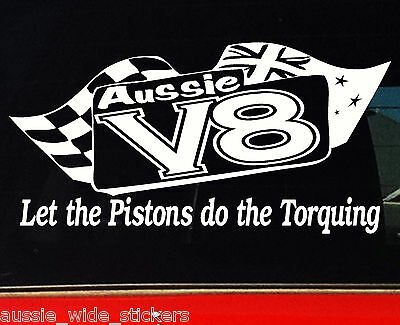 AU6.90 • Buy Aussie V8 For Ford Holden BNS Ute Accessories Funny Car Stickers 200mm