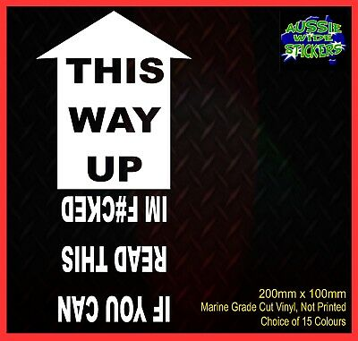AU6.90 • Buy THIS WAY UP 4x4 Ute Camping Car Aussie BNS JDM Funny Stickers 200mm