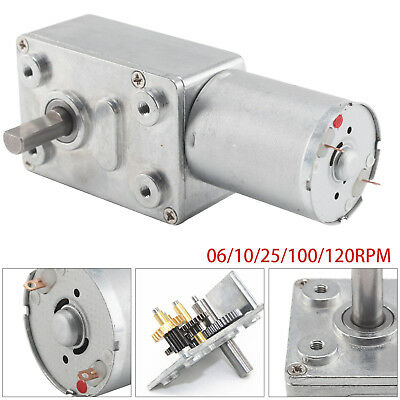 DC12V Reversible High Torque Turbo Worm Geared Motor 0.6-120RPM Self-Locking UK • 8.39£