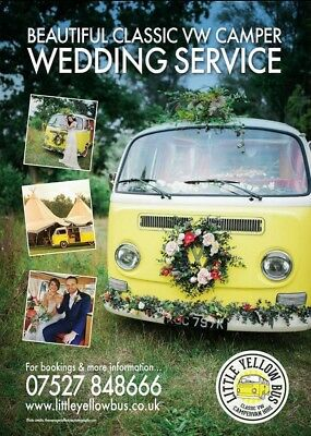 £100 • Buy Chauffeur Driven Classic Volkswagen CamperVan  Wedding Car Hire Service