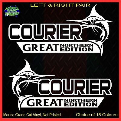 AU12.90 • Buy COURIER Stickers Accessories Ute Car MX Funny GREAT NORTHERN 200mm PAIR For FORD
