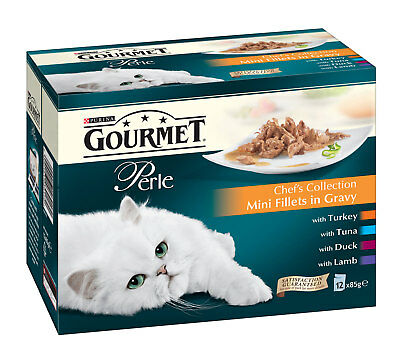 Gourmet Perle Cat Food Multipack Chefs Collection Mixed Flavours 12 X 85g Pouch • 10.77£