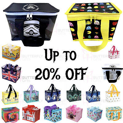 Children's Kids Adult Lunch Bags Insulated Cool Bag Picnic Bags School Lunchbox  • 3.95£
