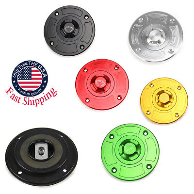 $18.49 • Buy CNC Keyless Gas Fuel Tank Cap Cover Motorcycle For Suzuki GSXR600 750 1997-2003