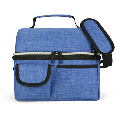 AU22.98 • Buy Eaglemate 10L Dual Compartment Insulated Lunch Bag Cooler Bag School Picnic Work