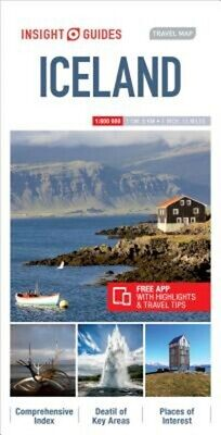Insight Guides Travel Map Iceland • 7.11£