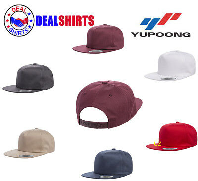 AU7.49 • Buy Yupoong Adult Unstructured 5-Panel Snapback Cap-Y6502