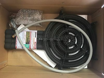 AU164.95 • Buy BRAND NEW WOK  CAMPING 4 Ring Burner 1/4 Male Connection 59MJ & HOSE REGULATOR