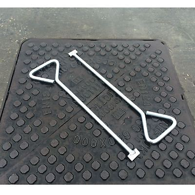 2 Pack Of 18  Manhole Cover Lifting Keys Heavy Duty Steel Drain Plate Stop Cock • 12.49£