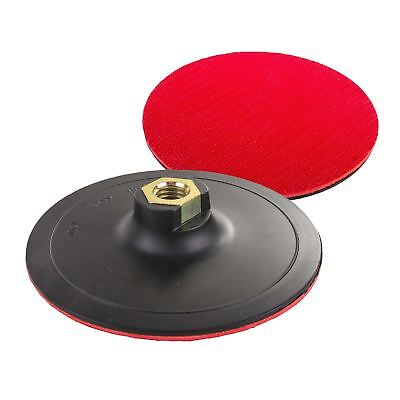 Hook & Loop 125mm Rubber Backing Pad For Angle Grinder Sander Polisher Discs M14 • 4.89£