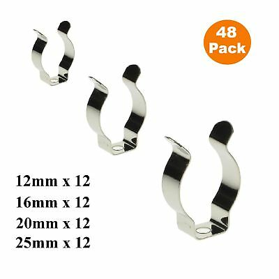 48 X Assorted Narrow Base Tool Spring Terry Clips / Heavy Duty Storage Hangers • 7.49£