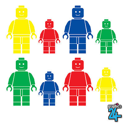 8 X Lego Man Set Children's Kids Vinyl Wall Art Sticker Decal Bedroom Home Decor • 6.99£