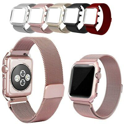 AU18.50 • Buy Milanese IWatch Band Strap Case Cover Magnetic For Apple Watch Series 38 42mm