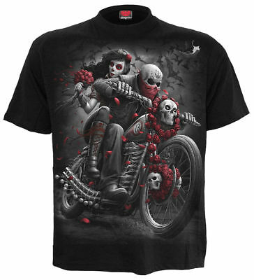 £14.75 • Buy Spiral Direct DOTD BIKERS Mens Rock/Skulls/Goth/Day Of The Dead/T Shirt/Clothing