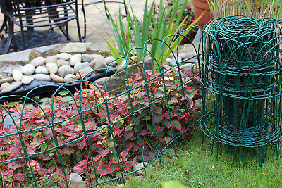 £20.99 • Buy Garden Border Fence Lawn Edging Green PVC Coated Wire Edge Fencing 10m Easigear