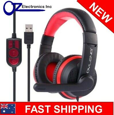 AU22 • Buy OVLENG GT91 USB Stereo PC Gaming Headset Headphones For SKYPE FREE Shipping