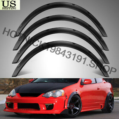 $ CDN32.65 • Buy Universal 4pcs PP 2 /50mm Fender Flares JDM Over Wide Body Wheel Arches