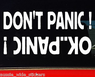 AU6.90 • Buy 4x4 Stickers 4wd Turbo Diesel Ute Wagon Winch Funny Car DON'T PANIC 200mm