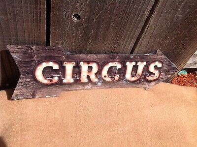Circus This Way To Arrow Sign Directional Novelty Metal 17  X 5  • 13.95$