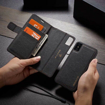 AU16.99 • Buy IPhone 12 11 Case Pro MAX 6 7 8 Plus Magnetic Removable Wallet Case Cover