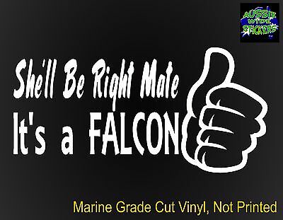 AU6.90 • Buy FALCON Gt Ute Accessories Funny Car Stickers RIGHT 200mm For Ford