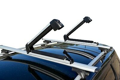 AU90 • Buy Alloy Roof Rack Ski Snow Board Carrier Holder Lockable For 3 Skis 2 Snowboards