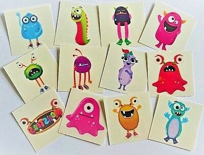 £2.99 • Buy 72 MONSTER Temporary Tattoos Kids Boys Girls Childrens Party Loot Bag Fillers