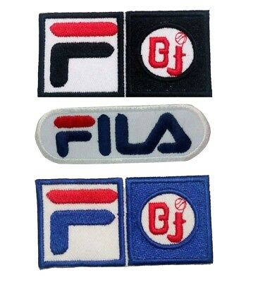 FiLA F BJ Pro Sports Logo Iron-on /Sew-on Embroidered Patch / Badge /Logo • 1.99£