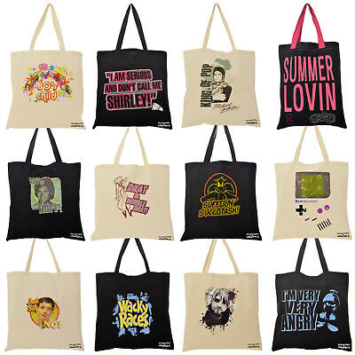 Tote Shopper Bag For Life. Various Designs Funky Retro Funny Gift Idea Him Her • 3.95£