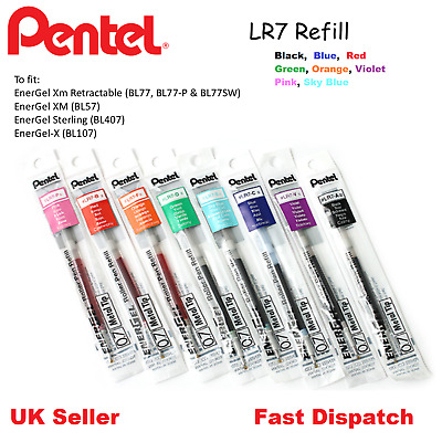 Pentel LR7 Refill For Energel BL77 BL57 BL407 BL107-0.7mm -ALL COLOURS AVAILABLE • 1.99£