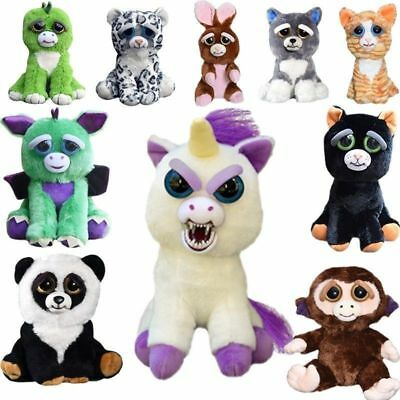 AU23.89 • Buy Feisty Pets Soft Plush Stuffed Scary Face Toys Animal With Attitude Gifts Xmas