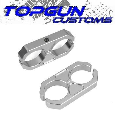 $25 • Buy Universal Shock Reservoir Mount Brackets Silver Coilover Reservoir Clamps