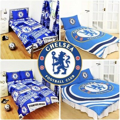 £22.95 • Buy Chelsea FC Football Club England Duvet Cover Set Single Double Bed Kids Adults