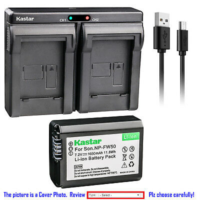 $ CDN39.01 • Buy Kastar Battery Slim Dual Charger For Sony NP-FW50 BC-VW1 & ILCE-6500 Alpha A6500