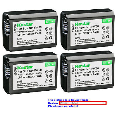 $ CDN17.51 • Buy Kastar Replacement Battery For Sony NP-FW50 BC-VW1 & Sony ILCE-6300 Alpha A6300