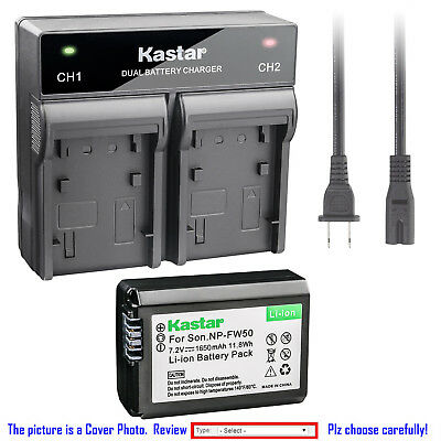 $ CDN26.42 • Buy Kastar Battery Dual Rapid Charger For Sony NP-FW50 BC-VW1 ILCE-6500 Alpha A6500