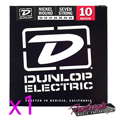 AU20.95 • Buy Jim Dunlop 10/56 7 String Medium Nickel Wound Electric Guitar Strings