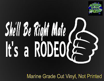 AU6.90 • Buy RODEO 4x4 Dual Cab Ute Canopy Car Funny Stickers 200mm