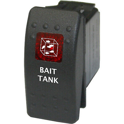 $14 • Buy Rocker Switch 736 Red 12V BAIT TANK Angling Fishing Aerator Pump