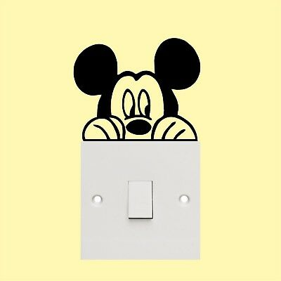 Mickey Mouse_Light Switch_ Wall Art _Funny Decal Vinyl Sticker • 2.49£
