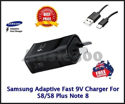 AU16.95 • Buy Genuine SAMSUNG 9V FAST AC Wall Charger For Galaxy S8 S9 S10 S20 Plus / Note 8 9