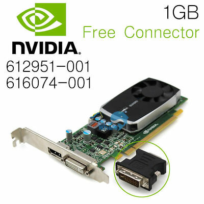 $ CDN41.61 • Buy For NVidia Quadro 600 1GB DDR3 PCIe Video Card  Connector 612951-001 616074-001