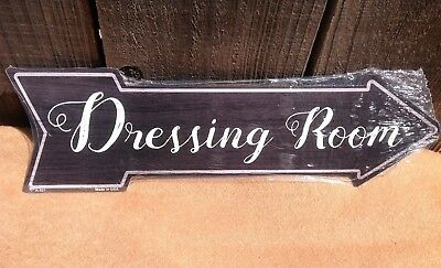 Dressing Room This Way To Arrow Sign Directional Novelty Metal 17  X 5  • 13.95$