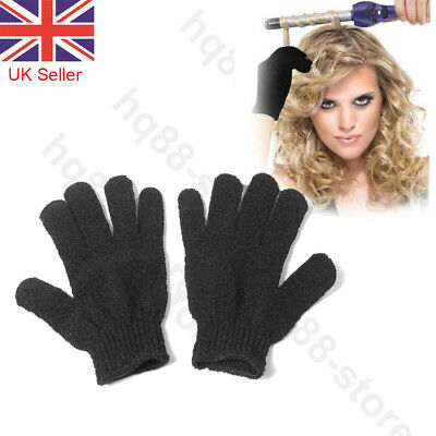 £3.12 • Buy 2pcs Heat Resistant Gloves Curling Protective Heat Proof For Hair Straightener