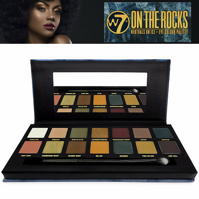 $ CDN9.99 • Buy W7 Makeup ON THE ROCKS Neutral On Ice 14 Cool Toned Eye Colour EyeShadow Palette