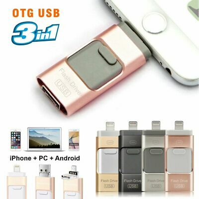 AU23.99 • Buy 256GB I Flash Drive USB Memory Stick HD U Disk 3 In 1 For Android IOS IPhone PC