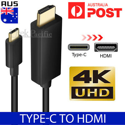 AU14.95 • Buy USB C To HDMI Cable USB Type C Male To HDMI Male 4K Cable For Macbook Chromebook