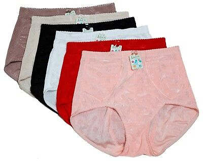 $16.99 • Buy 6 Tummy Control Panties Brief Front Side Pockets Mixed Colors S M L XL 2XL 101