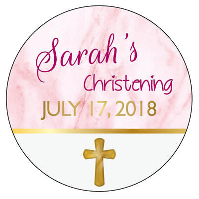 £2.65 • Buy  EXTRA LARGE CHRISTENING Party Stickers PINK Religion Communion GLOSSY 977